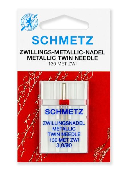 Иглы двойные для металлизированных нитей № 90/3,0, Schmetz
