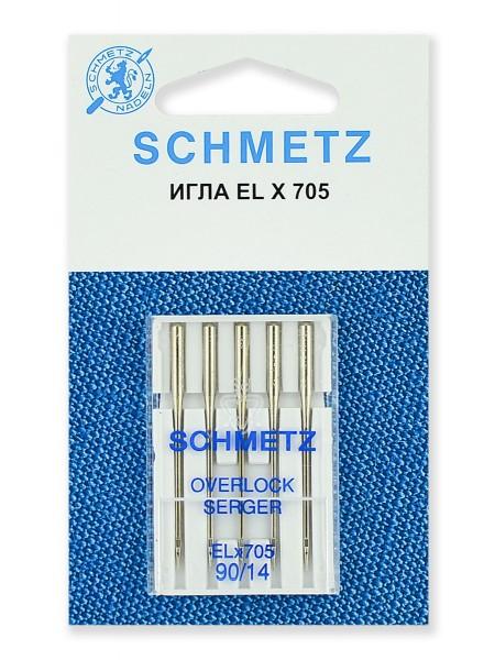 Иглы для плоскошовных машин, хромированные № 90, Schmetz
