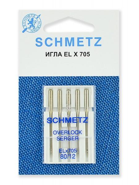 Иглы для плоскошовных машин, хромированные № 80, Schmetz