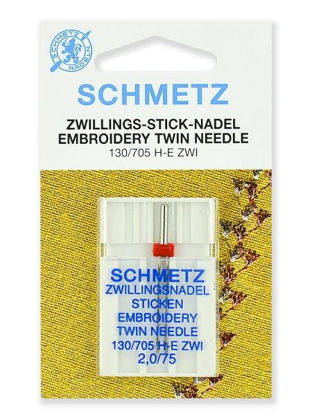 Иглы вышивальные двойные № 75/2.0, Schmetz