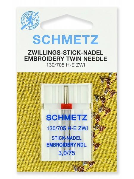 Иглы вышивальные двойные № 75/3.0, Schmetz