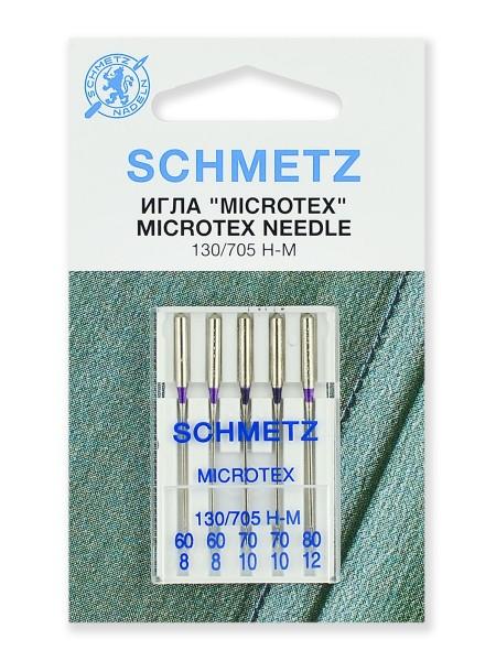 Иглы микротекс (особо острые) набор, Schmetz