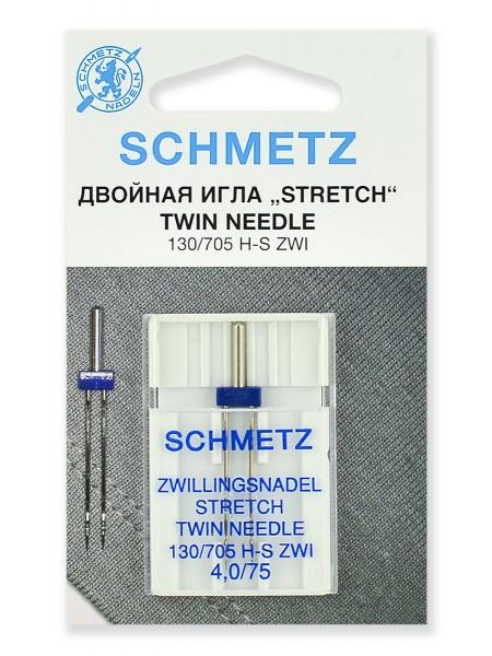 Иглы стретч двойные № 75/4.0, Schmetz
