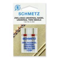 Иглы стандартные двойные № 80/2.5, Schmetz