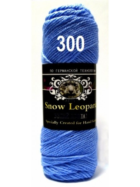 Белый леопард 300 голубой