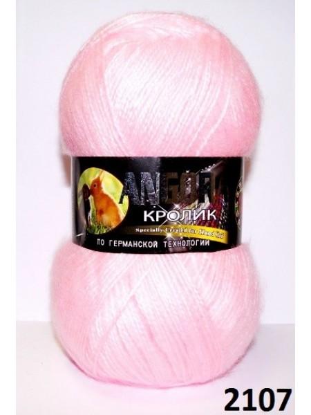 Ангора кролик 2107 розовый светлый