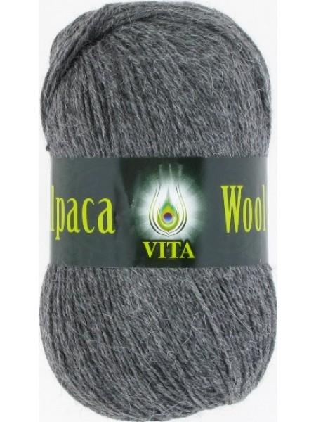Альпака Вул 2973 темно-серый меланж