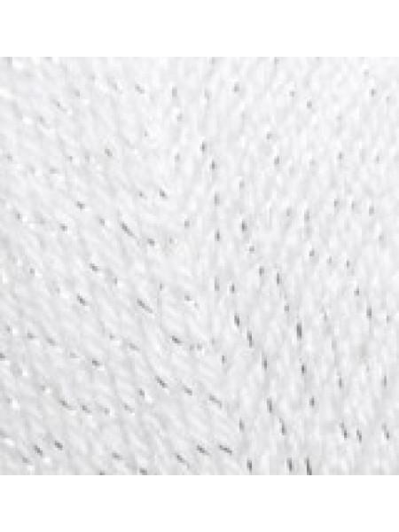 Сал Симли белый с серебром 50-01