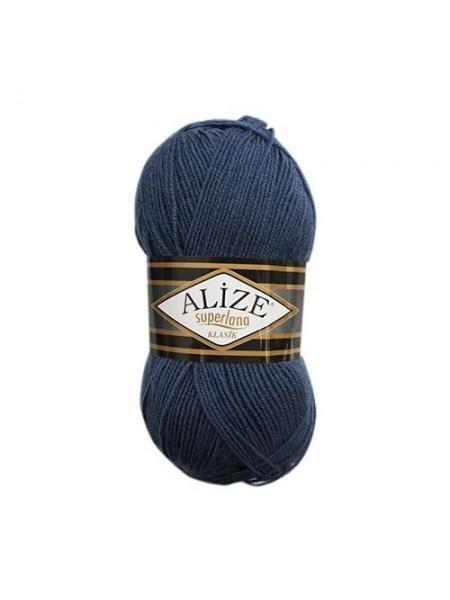 Пряжа ALIZE 'Superlana klasik ' (однотонная) (75% акрил, 25%шерсть) ТУ
