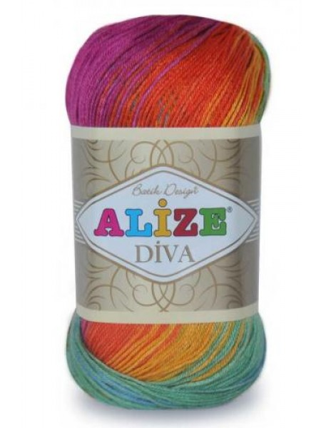 Пряжа ALIZE 'Diva batik design' 100гр. 350м. (100% микрофибра) ТУ