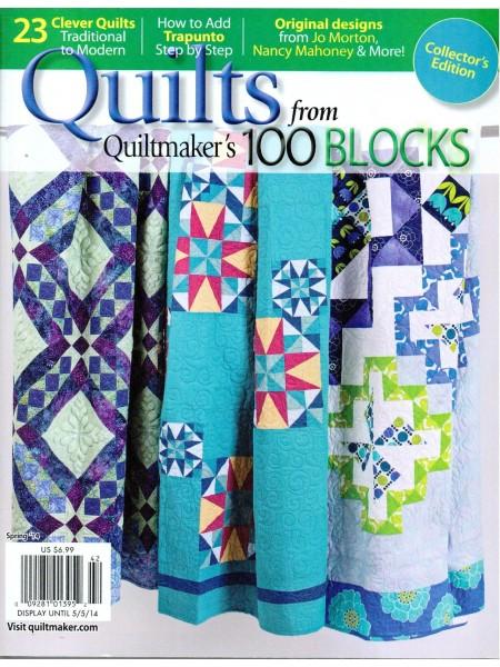 Журнал Quiltmaker`s 100 blocks Spring 2014